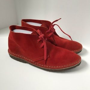 Crewcuts suede Orange rusty lace up shoes size K6